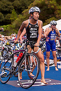 Akane Tsuchihashi JPN.Womens ITU Race.2011 Dextro Energy Triathlon ITU World Championship Sydney.Sydney, New South Wales, Australia..Hosted By USM Events.Proudly Supported By Asics, Dextro, Suunto, Events New South Wales, Subaru, USM Events..10/04/2011.Photo Lucas Wroe