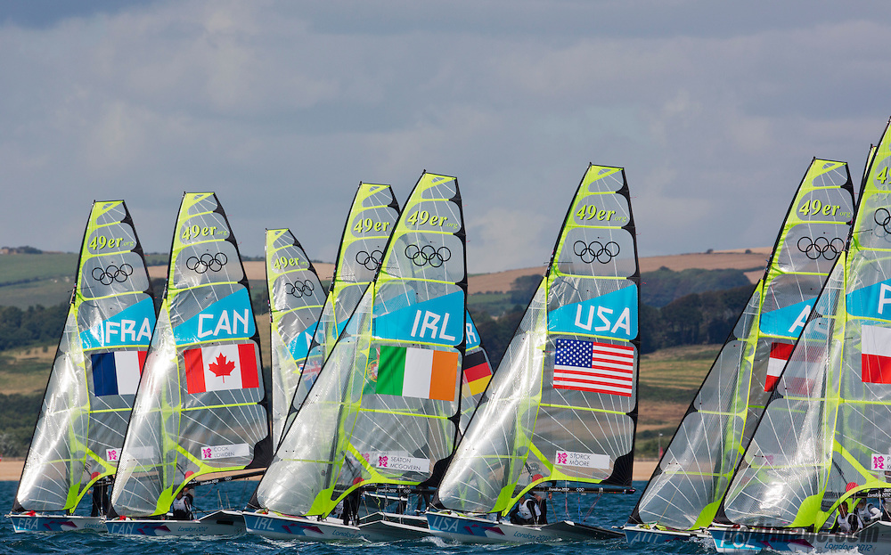 49er start<br /> 2012 Olympic Games <br /> London / Weymouth