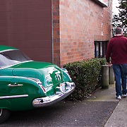 1949 Oldsmobile, 34th Street Garage, Magnolia, Seattle, Washington