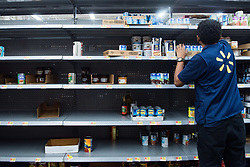 September 5, 2017 - Fort Lauderdale, Florida, U.S - Canned food shelves at Walmart in Fort Lauderdale while residents stock up with groceries in preperation for hurricane Irma. Florida Governor, Rick Scott, declared a state of emergency for all counties in Florida on Monday, in enticipation of possible impact of category five Hurricane Irma later this week. (Credit Image: © Orit Ben-Ezzer via ZUMA Wire)