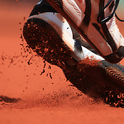Marin Cilic, Croatia, in action against Andy Murray, Great Britain  at the French Open Tennis Tournament at Roland Garros, Paris, France on Sunday, May 31, 2009. Photo Tim Clayton..