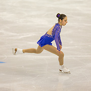 Yasmin Siraj competes in the championship ladies short program at the 2014 US Figure Skating Championships at TD Garden in Boston, MA, on January 9, 2014.