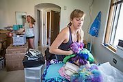 Incoming freshmen move into their residence hall rooms.