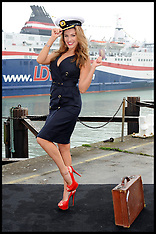 Model Kelly Brook launches new ferry route  Dover to Calais
