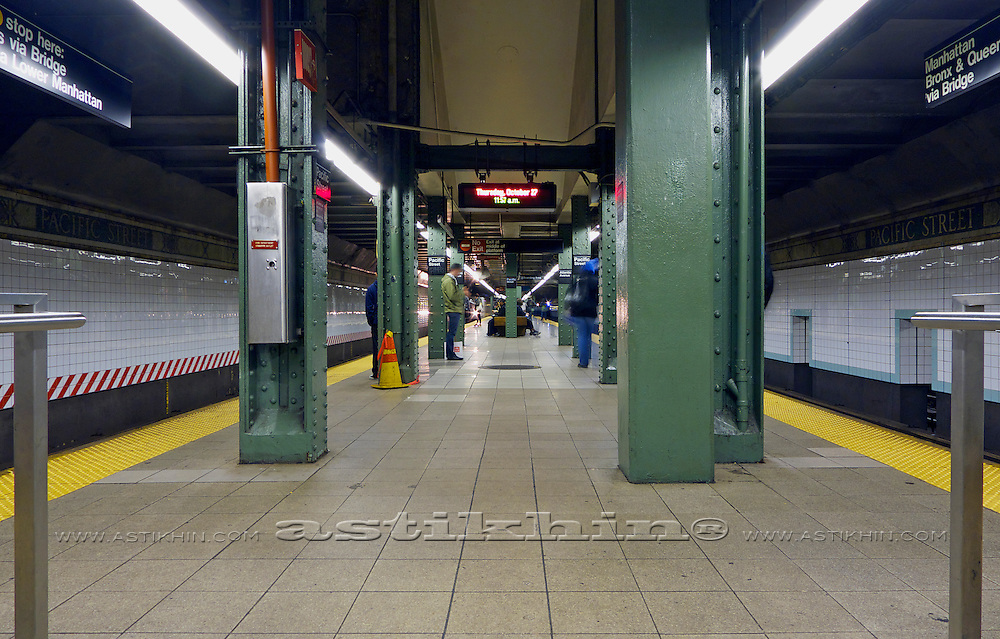 Subway station in New York City.