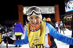 06-03-2016 SWE: Vasaloppet Challenge BvdGF day 7, Sälen<br /> Vandaag een rustig dagje, 90 km langlaufen van Sälen naar Mora in bizarre omstandigheden / Clarissa komt over de finish
