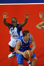 06-09-2006 BASKETBAL: NEDERLAND - SLOWAKIJE: GRONINGEN<br /> De basketballers hebben ook de tweede wedstrijd in de kwalificatiereeks voor het Europees kampioenschap in winst omgezet. In Groningen werd een overwinning geboekt op Slowakije: 71-63 / Sydmill Harris<br /> ©2006-WWW.FOTOHOOGENDOORN.NL
