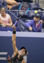 September 7, 2017 - Flushing Meadows, New York, U.S - Madison Keys defeats CoCo Vandeweghe on Day Eleven of the 2017 US Open at the USTA Billie Jean King National Tennis Center on Thursday September 7, 2017 in the Flushing neighborhood of the Queens borough of New York City.  Keys defeats Vandeweghe, 6-1, 6-2. (Credit Image: © Prensa Internacional via ZUMA Wire)