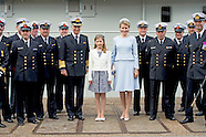King Filip  and Queen Mathilde of Belgium and princess Elisabeth attends baptism ceremony of the P90