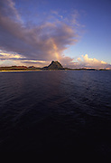 Rainbow over Mt. Otumanu, Bora Bora, French Polynesia<br />