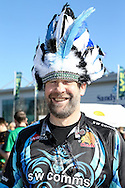 A Exeter Chiefs fan before the LV Cup Final match at Sandy Park, Exeter<br /> Picture by Andy Kearns/Focus Images Ltd 0781 864 4264<br /> 16/03/2014