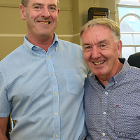 Denis O'Leary and Michael Alcock from Dublin pictured at the Kinsale Regatta Emigrants' Welcome Home gathering at Temperance Hall.<br /> Picture. John Allen