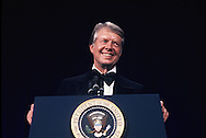President Carter speaks at a State Dinner for the  Shah of Iran on November 15, 1977.<br /> Photo by Dennis Brack