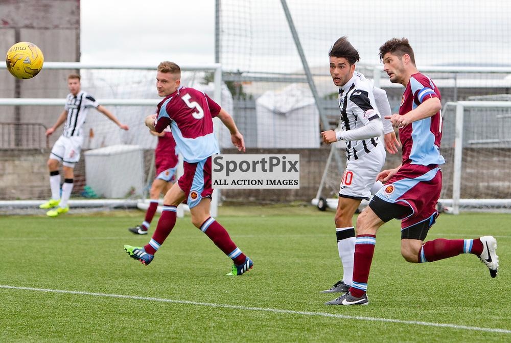 Stenhousemuir v Dunfermline Athletic SPFL League One Season 2015/16 Ochilview Park 19 September 2015<br /> Faissal El Bakhtaoui makes it 2-0<br /> CRAIG BROWN   sportPix.org.uk