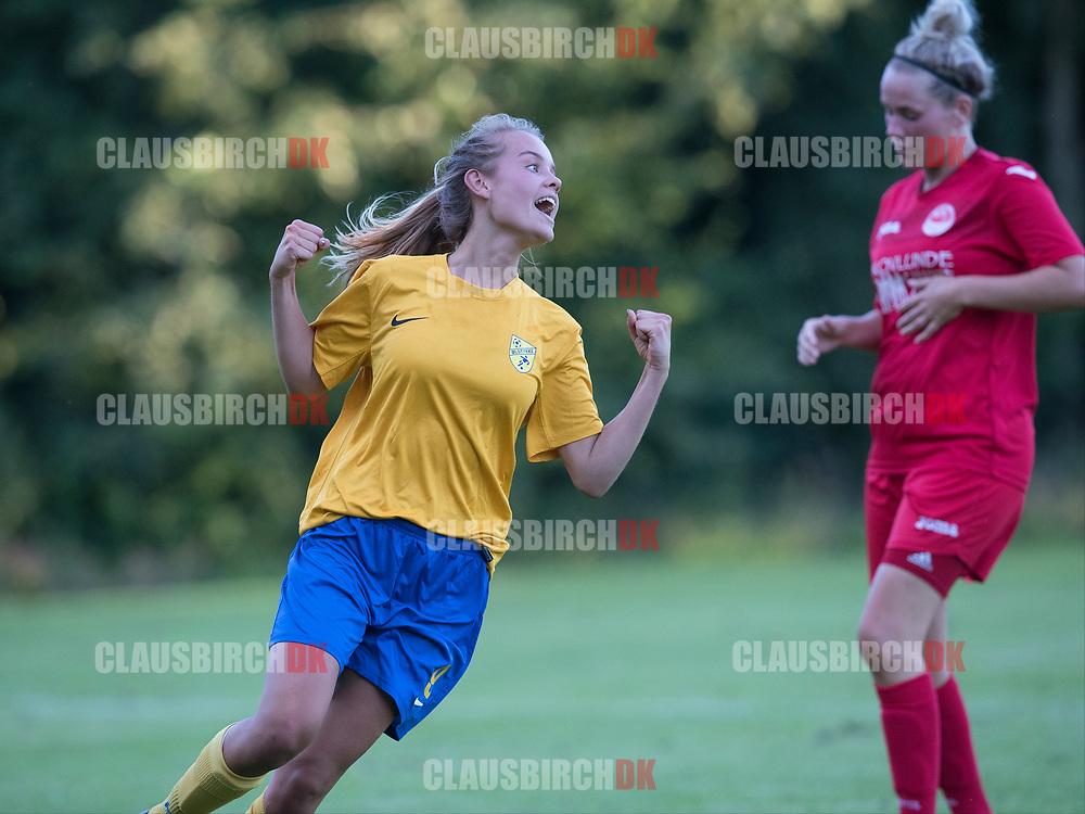 FODBOLD: Sabrina Jonassen (Ølstykke FC) under træningskampen mellem Ølstykke FC og BSF den 10. august 2017 på Ølstykke Idrætsanlæg. Foto: Claus Birch
