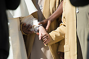 VATICAN CITY, ITALY 20 SEPT 2017: Images from the General Audience with Pope Francis in St. Peters Square on Sept. 20, 2017 Pope Francis greets a group of African Nuns.