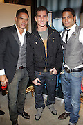 l to r: Shane Ward, Donnie Klang, and Shawn Ward at 'Spring on Mulberry Block Party'  celebration for Shane and Shawn Shoes sponsored by Bombay Sapphire and  held at The Shane & Shawn Store in New York City on May 7, 2009