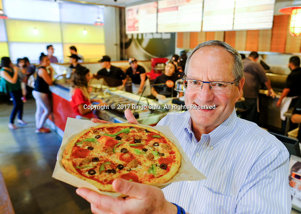 Jim Mizes, CEO of Blaze Pizza in Pasadena.(Photo by Ringo Chiu)<br /> <br /> Usage Notes: This content is intended for editorial use only. For other uses, additional clearances may be required.