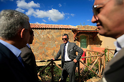 ITALY SARDINIA CHIA 28SEP07 - Andreas Panayiotou and his entourage visits a new hotel development near Chia with intentions of a leaseback purchase. Panayiotou, founder and Group Chairman of The Ability Group and a former boxer built his property empire from the ground up and today enjoys his status as billionnaire tycoon...jre/Photo by Jiri Rezac..© Jiri Rezac 2007..Contact: +44 (0) 7050 110 417.Mobile:  +44 (0) 7801 337 683.Office:  +44 (0) 20 8968 9635..Email:   jiri@jirirezac.com.Web:    www.jirirezac.com..© All images Jiri Rezac 2007 - All rights reserved.