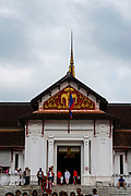 Exterior view of the Royal Palace, which is now a museum, Luang Prabang, Laos.