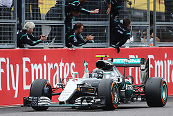 GP von Japan 2016 in Suzuka / 091016<br /> <br /> ***Formula One Grand Prix of Japan on October 9, 2016 in Suzuka.***<br /> <br /> GP von Japan 2016 in Suzuka / 091016<br /> <br /> ***Formula One Grand Prix of Japan on October 9, 2016 in Suzuka.***<br /> <br /> Race winner Nico Rosberg (GER) Mercedes AMG F1 W07 Hybrid celebrates at the end of the race.<br /> 09.10.2016. Formula 1 World Championship, Rd 17, Japanese Grand Prix, Suzuka, Japan, Race Day.<br /> - www.xpbimages.com, EMail: requests@xpbimages.com - copy of publication required for printed pictures. Every used picture is fee-liable. © Copyright: Charniaux / XPB Images