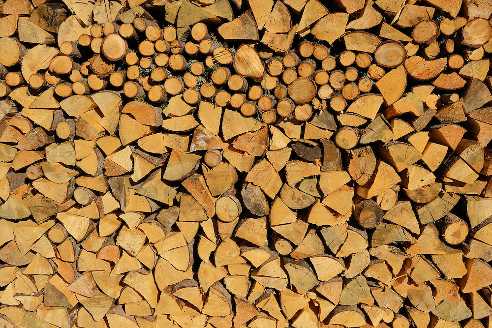 Fire wood pile, Zabardo, Western Rhodope mountains, Bulgaria