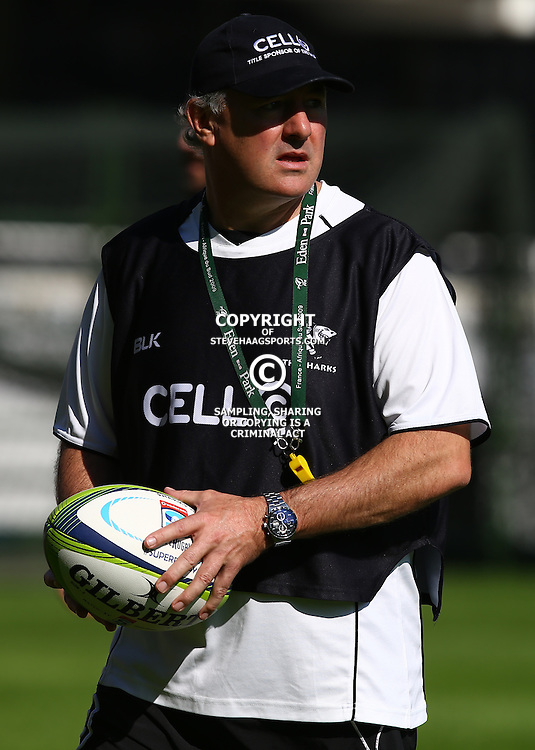 Durban ,28th May 2015, Gary Gold (Sharks Director of Rugby) during the The Cell C Sharks Captain Run at Growthpoint Kings Park Stadium on Monday 28th May 2015. (Photo by Steve Haag)