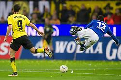 26.11.2011, Signal Iduna Park, Dortmund, GER, 1. FBL, Borussia Dortmund vs FC Schalke 04, im Bild Zweikampf Robert Lewandowski (#9 Dortmund) - Jermaine Jones (#13 Schalke) // during Borussia Dortmund vs. FC Schalke 04 at Signal Iduna Park, Dortmund, GER, 2011-11-26. EXPA Pictures © 2011, PhotoCredit: EXPA/ nph/ Kurth..***** ATTENTION - OUT OF GER, CRO *****