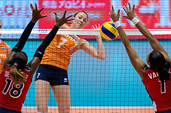 18-05-2016 JAP: OKT Nederland - Dominicaanse Republiek, Tokio<br /> Nederland is weer een stap dichterbij kwalificatie voor de Olympische Spelen. Dit dankzij een 3-0 overwinning op de Dominicaanse Republiek / Quinta Steenbergen #7