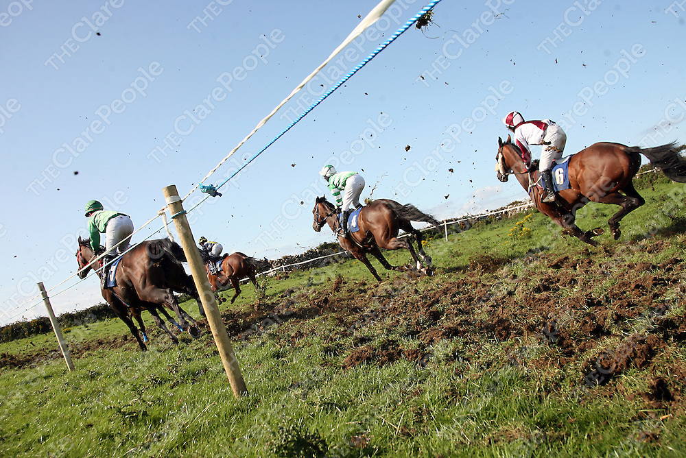 Action from the fifth at the annual Lisdoonvarna races at the weekend.<br /> Photograph by Yvonne Vaughan