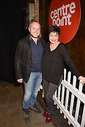 Denise Welch and Lincoln Townley at the Centrepoint Ultimate Pub Quiz, Village Underground, 54 Holywell Lane, London England. 7 February 2017.