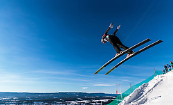 18.03.2018, Vikersundbakken, Vikersund, NOR, FIS Weltcup Ski Sprung, Raw Air, Vikersund, Finale, im Bild Anders Fannemel (NOR) // Anders Fannemel of Norway during the 4th Stage of the Raw Air Series of FIS Ski Jumping World Cup at the Vikersundbakken in Vikersund, Norway on 2018/03/18. EXPA Pictures © 2018, PhotoCredit: EXPA/ JFK