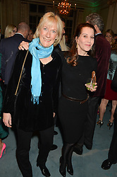 Left to right, PRINCESS OLGA ROMANOV and COUNTESS SONDES at a party to celebrate the publication of The Romanovs 1613-1918 by Simon Sebag-Montefiore held at The Mandarin Oriental, 66 Knightsbridge, London on 2nd February 2016.