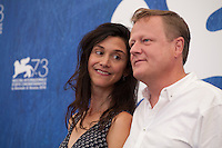 Directors Jessica Woodworth and Peter Brosens at the King Of The Belgians film photocall at the 73rd Venice Film Festival, Sala Grande on Saturday September 3rd 2016, Venice Lido, Italy. Photography: Doreen Kennedy