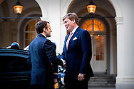 21-3-2018 THE HAGUE - The French president Emmanuel Macron during a visit to King Willem-Alexander. The visit will take place within the framework of the summit of Heads of State and Government of the European Union.ROBIN UTRECHT