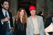 LUKE JANKLOW; JEMIMA KHAN; A.A.GILL, Early launch of Rupert's. Robin Birley  new premises in Shepherd Market. 6 Hertford St. London. 10 June 2010. .-DO NOT ARCHIVE-© Copyright Photograph by Dafydd Jones. 248 Clapham Rd. London SW9 0PZ. Tel 0207 820 0771. www.dafjones.com.