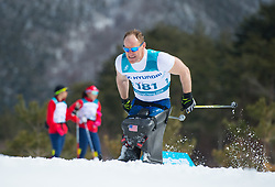 March 17, 2018 - Pyeongchang, South Korea - Dan Cnossen on his way to a silver medal finish in the 7.5km Cross Country event Saturday, March 17, 2018 at the Alpensia Biathlon Center at the Pyeongchang Winter Paralympic Games. Photo by Mark Reis (Credit Image: © Mark Reis via ZUMA Wire)
