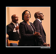 Church service at Cascade United Methodist Church