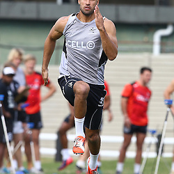 DURBAN, SOUTH AFRICA Monday 29th June 2015 - Waylon Murray during the Cell C Sharks Conditioning training session at Growthpoint Kings Par in Durban, South Africa. (Photo by Steve Haag)