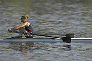 Hazenwinkel, BELGIUM,  Elise LAVERICK,  in the last strokes of the morning time trial, at the GB Rowing Senior Trials, on Sun,15.04.2007  [Credit, Peter Spurrier/Intersport-images]   [Mandatory Credit, Peter Spurier/ Intersport Images]. , Rowing Course, Bloso, Hazewinkel. BELGUIM