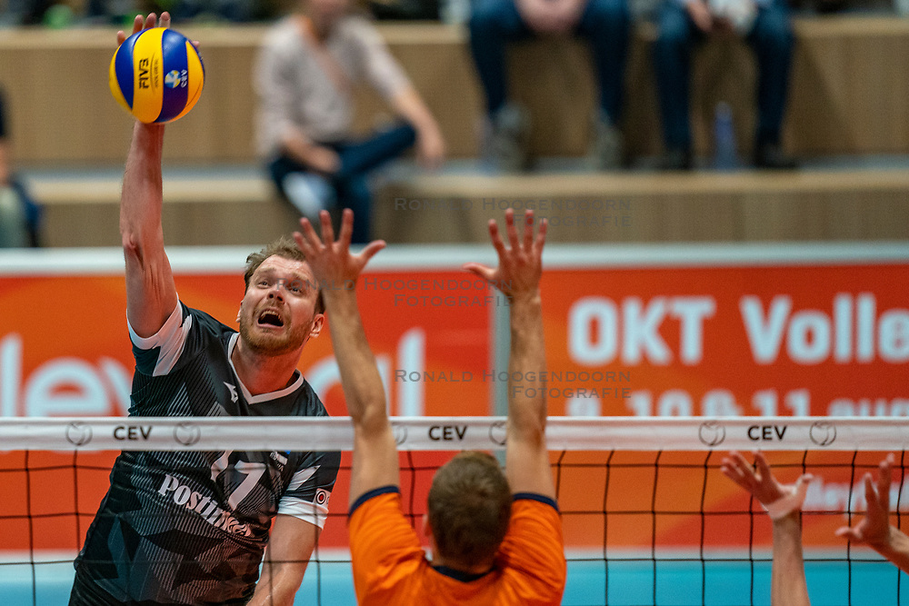 12-06-2019 NED: Golden League Netherlands - Estonia, Hoogeveen<br /> Fifth match poule B - The Netherlands win 3-0 from Estonia in the series of the group stage in the Golden European League / Oliver Venno #11 of Estonia