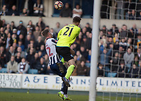 Football - 2016 / 2017 FA Cup - Fifth Round: Millwall vs. Leicester City <br /> <br /> Ron-Robert Zieler of Leicester City clashes into Aiden O'Brien of Millwall at The Den<br /> <br /> COLORSPORT/DANIEL BEARHAM