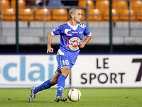 FOOTBALL - FRENCH CHAMPIONSHIP 2005/2006 - ES TROYES v AS MONACO - 21/09/2005 - BENJAMIN NIVET (TRO)  - PHOTO STEPHANE REIX / DIGITALSPORT<br />