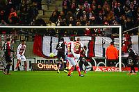 But Gaetan CHARBONNIER - 07.12.2014 - Reims / Guingamp - 17eme journee de Ligue 1 -<br /> Photo : Dave Winter / Icon Sport