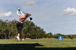 January 19, 2019 - Lake Buena Vista, FL, U.S. - LAKE BUENA VISTA, FL - JANUARY 19: Brooke M. Henderson of Canada tees off on hole 10 during the third round of the Diamond Resorts Tournament of Champions on January 19, 2019, at Tranquilo Golf Course at Fours Seasons Orlando in Lake Buena Vista, FL. (Photo by Roy K. Miller/Icon Sportswire) (Credit Image: © Roy K. Miller/Icon SMI via ZUMA Press)