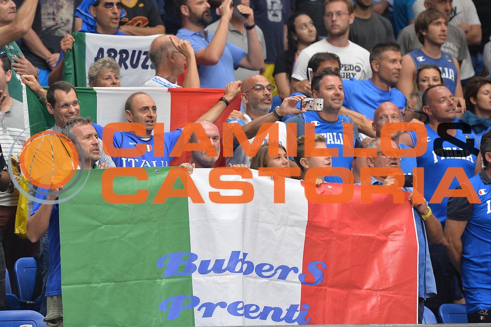 Ultras, Tifosi, Spettatori, Pubblico<br /> Nazionale Italiana Maschile Senior<br /> Eurobasket 2017 - Group Phase<br /> Lituania - Italia<br /> FIP 2017<br /> Tel Aviv, 03/09/2017<br /> Foto Ciamillo - Castoria/ M.Longo