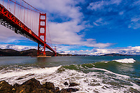 Golden Gate Bridge, San Francisco Bay, San Francisco, California USA