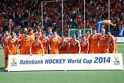 THE HAGUE - Rabobank Hockey World Cup 2014 - 15-06-2014 - MEN - FINAL AUSTRALIA  - THE NETHERLANDS 6-1 -  HEREN NEDERLAND WINNEN OPNIEUW ZILVER<br /> Copyright: Willem Vernes