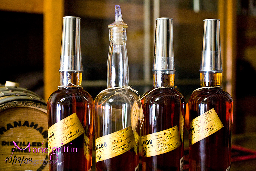 Each whiskey bottle has a unique label hand signed by the person bottling and a tin cap for sipping at Stranahan Colorado Whiskey distiller. <br />