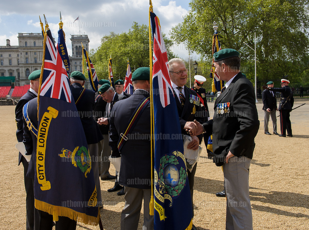 20160515       Copyright image 2016&copy;<br /> Royal Marines Veterans marching during the annual<br /> Graspan Memorial Parade, organised by the Royal Marines Association, City of London Branch. The event is held at the Graspan Memorial on the Mall. Members of the RMA are joined by serving Royal Marines, RM Cadets and the Royal Marines Band. <br /> The parade commemorates the Royal Marines who died in the South African War and Boxer Rebellion<br /> <br /> <br /> For photographic enquiries please call Anthony Upton 07973 830 517 or email info@anthonyupton.com <br /> This image is copyright Anthony Upton 2016&copy;.<br /> This image has been supplied by Anthony Upton and must be credited Anthony Upton. The author is asserting his full Moral rights in relation to the publication of this image. All rights reserved. Rights for onward transmission of any image or file is not granted or implied. Changing or deleting Copyright information is illegal as specified in the Copyright, Design and Patents Act 1988. If you are in any way unsure of your right to publish this image please contact +447973 830 517 or email: info@anthonyupton.com